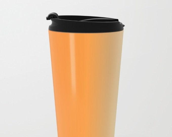 Orange Ombre Travel Mug Metal - Coffee Travel Mug - Orange to Yellow -  Hot or Cold Travel Mug - 20oz Mug - Stainless Steel - Made to Order