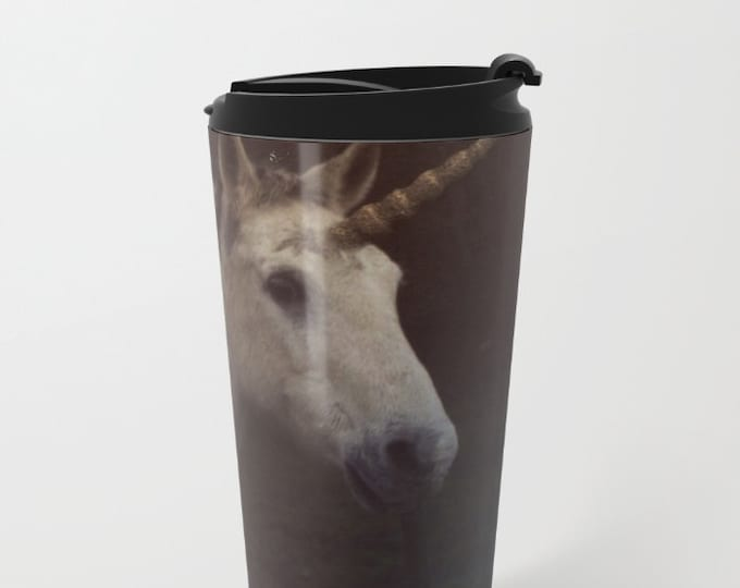 Unicorn Travel Mug Metal - Coffee Travel Mug -  Hot or Cold Travel Mug - 20oz Mug - Stainless Steel - Made to Order