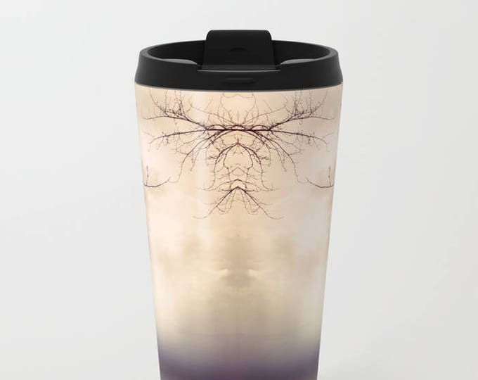 Travel Mug Metal - Abstract Tree Photograph - Coffee Travel Mug -  Hot or Cold - 20 oz Mug - Stainless Steel - Made to Order