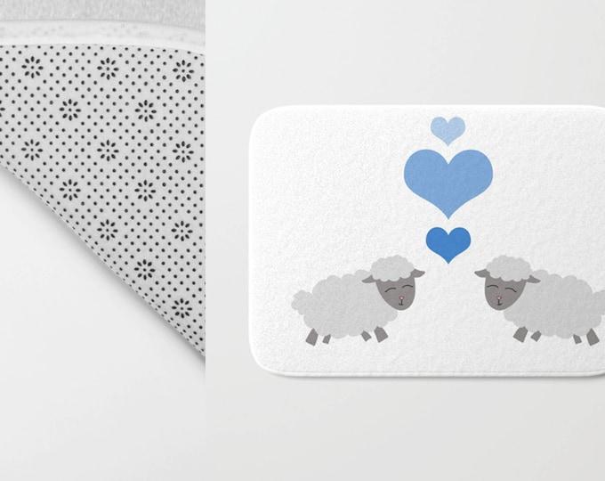 Sheep Bath Mat -  Lamb Shower Mat - Bathroom Mat -  Made to Order