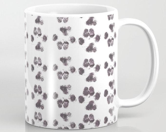 Paw Prints Coffee Mug  - Puppy Prints - Coffee Cup - Coffee Mug - 11oz - 15oz - Ceramic - Made to Order