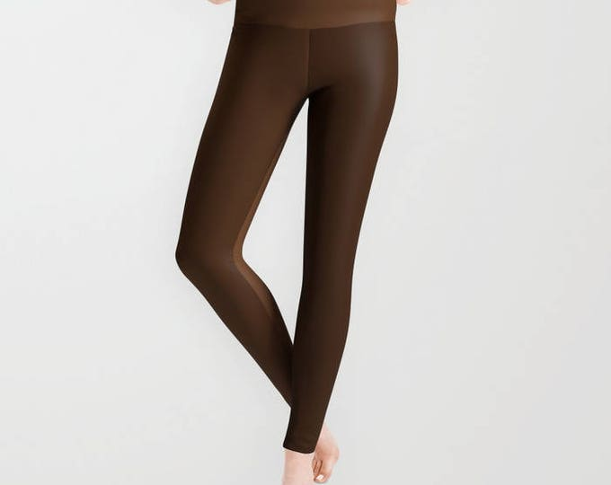 Leggings - Brown Two Tone - Yoga Pants - Yoga Leggings - Tights - Made to Order