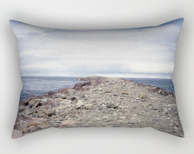 Beach Photo Pillow Cover - Insert Included  - Rectangular Throw Pillow - Rockaway Beach Oregon - Oregon Coast - Made to Order