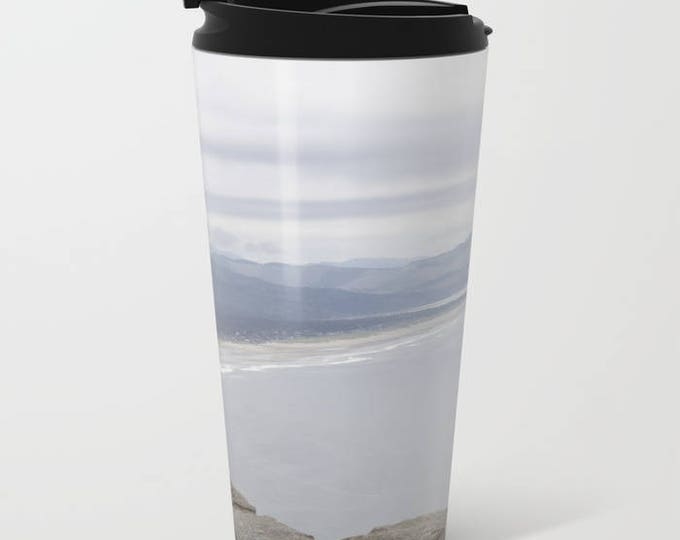 Travel Mug Metal - Beach Oregon - Beach Theme Coffee Travel Mug -  Hot or Cold - 20 oz Mug - Stainless Steel - Made to Order