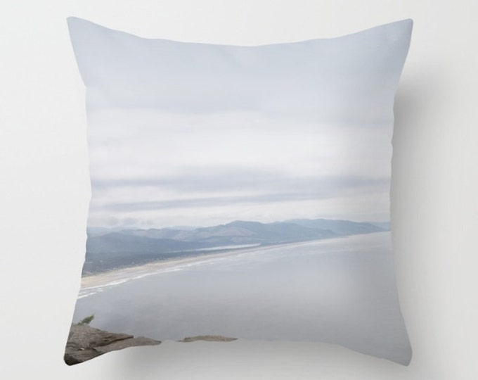 Beach Pillow Cover Includes Pillow Insert - Oregon Coast - Beach Decor - Throw Pillow - Sofa Pillow - Made to Order