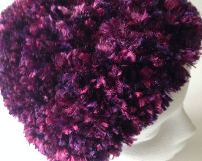 Soft Purple Hat - Crochet Hat - Fun Hat - Handmade Crochet - Ready to Ship