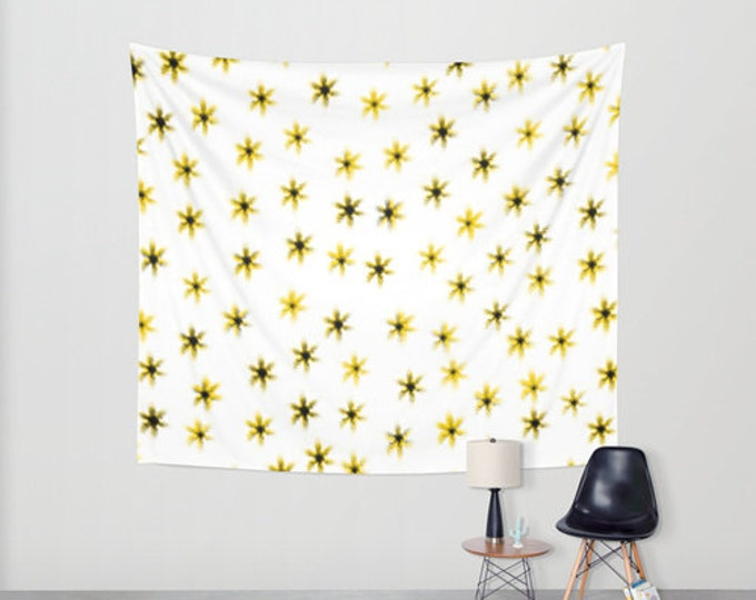 Daisy Flowers - Hanging Tapestry - Wall Tapestry - Yellow Daisy Flowers - Large Wall Hanging - Home Decor - Made to Order
