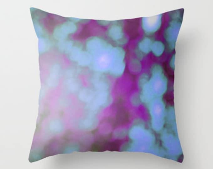 Pillow Cover Includes Pillow Insert - Purple Bokeh Photograph - Purple Pillow - Sofa Pillow - Decorative Pillow - Made to Order