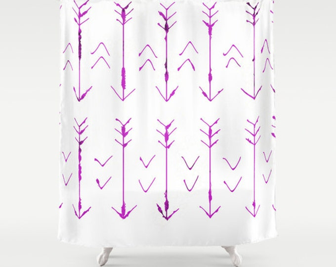 Arrow Shower Curtain - Hand Drawn Arrows Bathroom Shower Curtain - Arrow Art - Made to Order