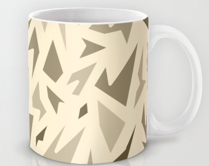 Coffee Mug Brown Abstract Art - Coffee Mug 11 oz  - Mug 15 oz - Ceramic Mug - Made to Order