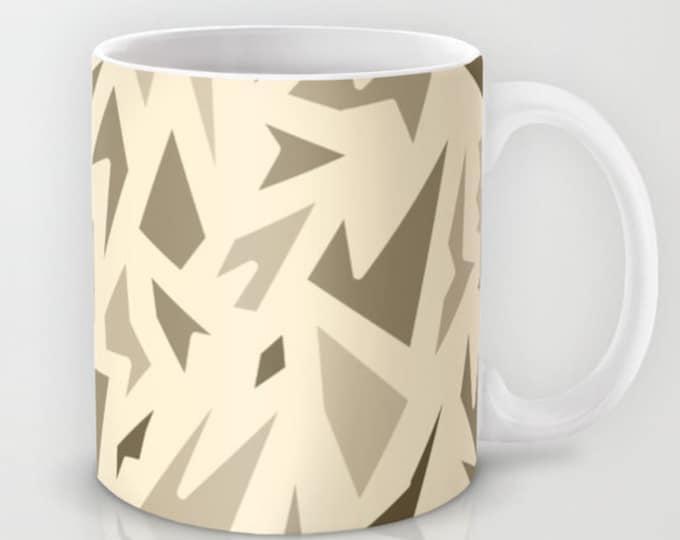 Coffee Mug Brown Abstract Art - Coffee Mug 11 oz  - Mug 15 oz - Ceramic Mug - Made to Order
