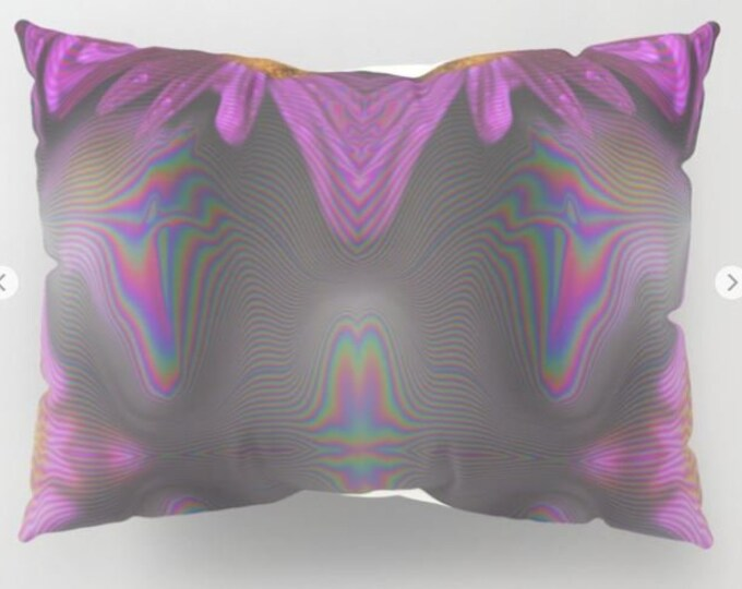 Pillowcases - Pillow Shams - Abstract Purple Flowers - Original Photograph - Made to Order