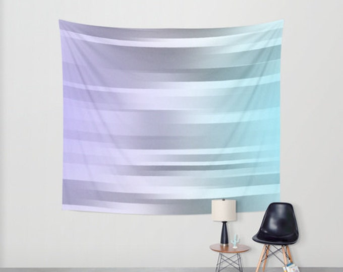 Blue Gray Purple - Hanging Tapestry - Wall Tapestry - Motion Art Purple Gray Blue - Large Wall Hanging - Home Decor - Made to Order