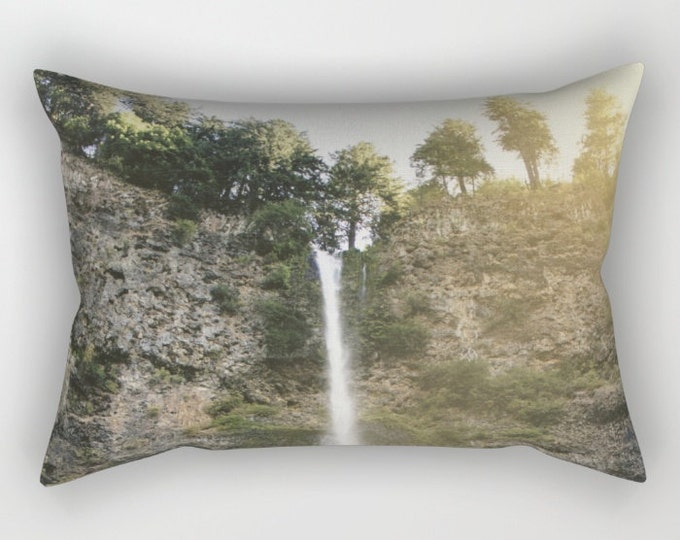 Waterfall Pillow Cover Includes Insert - Multnomah Falls Oregon - Nature Photograph - Bed Throw Pillow - Sofa Pillow - Made to Order
