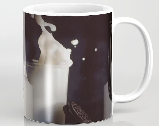 Milk and Cookies Coffee Mug -  Photo Coffee Mug  - 11oz Mug - 15oz Mug - Made to Order