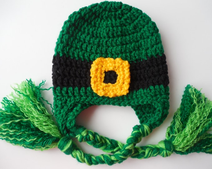Leprechaun Hat - St. Patrick's Day Baby to Adult Sizes - Lucky Irish Hat - Handmade Crochet - Made to Order