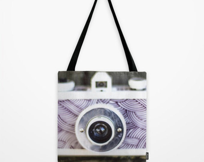 Camera Tote Bag - Book Bag - Grocery Bag - Beach Bag - Camera Photo Tote Bag - Photography Lover - Made to Order
