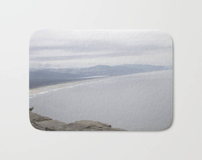 Bath Mat - Beach Photo - Beach Ocean Theme - Shower Bathroom Mat -  Made to Order
