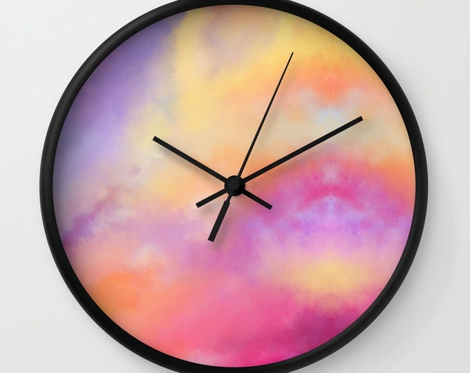 Clock - Colorful Wall Clock - Made to Order