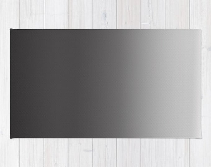 Black to Gray Ombre Floor rug - Room Rug - Bathroom Decor - Throw Rug - Made to Order
