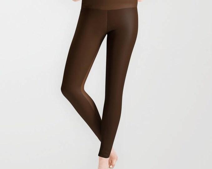 Leggings - Brown Two Tone - Yoga Pants - Yoga Leggings - Tights - Made to Order