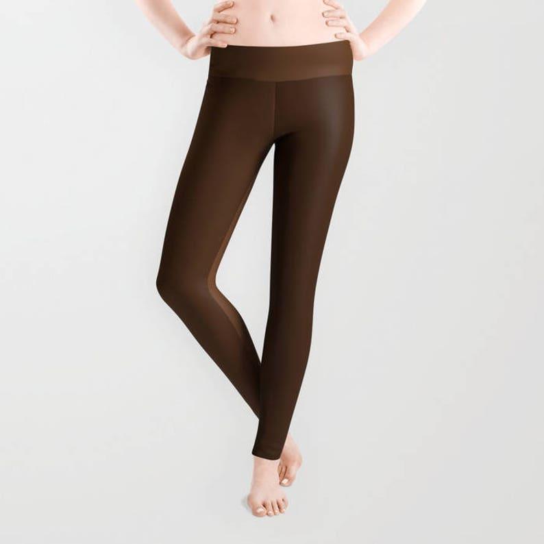 c34d13ea2959ad Leggings Brown Two Tone Yoga Pants Yoga Leggings | Etsy
