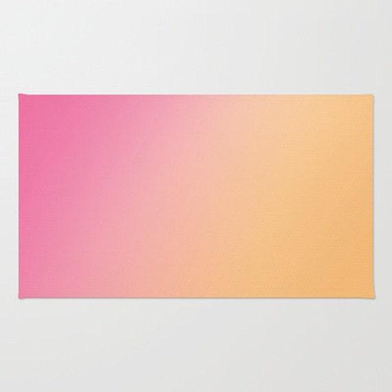 Ombre Pink To Orange Floor Rug Floor Mat Room Rug