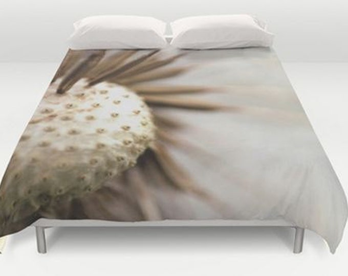 Nature Bed Cover - Dandelion Photography - Duvet Cover Only - Bed Spread - Bedroom Decor - Made to Order