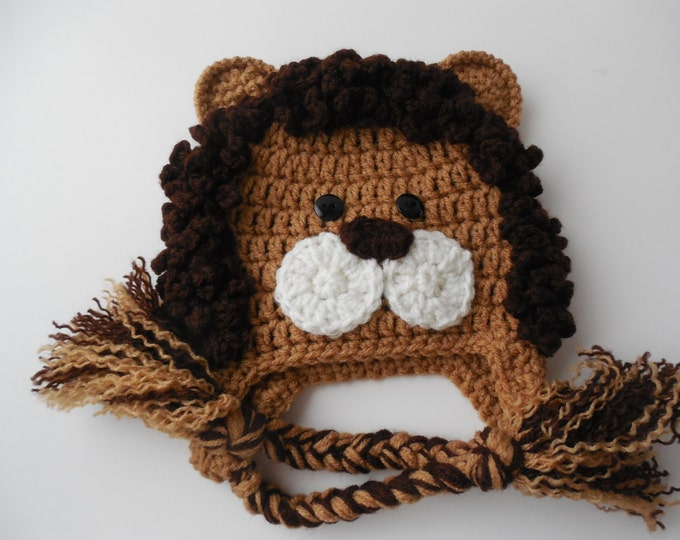 Lion Baby Animal Hat - Photo Prop - Made to Order