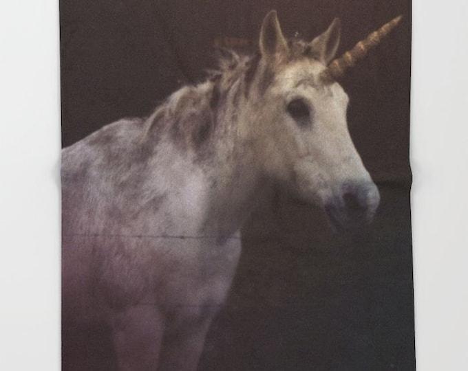 Unicorn Fleece Throw Blanket - Bedding - Fantasy Unicorn - Fleece Throw Blanket - Made to Order