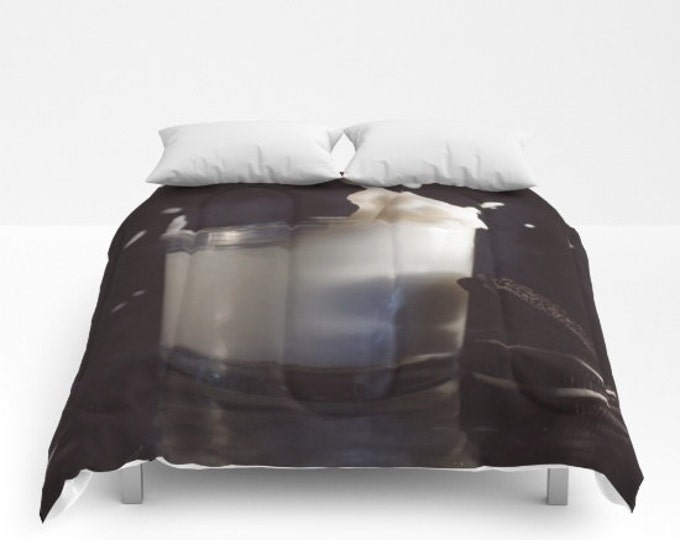 Milk and Cookies Comforter - Bed Cover - Bedding - King - Queen - Full - Made to Order