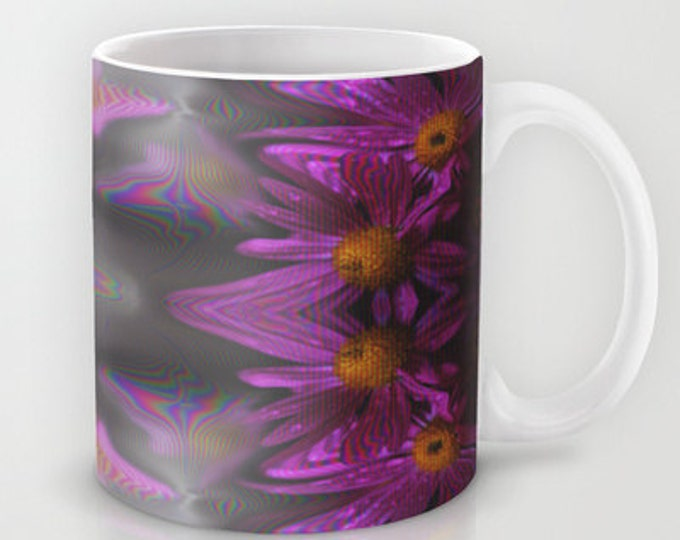 Purple Flower Photo Mug - Coffee Mug - Photo Art - 11 oz Mug - 15 oz Mug - Made to Order