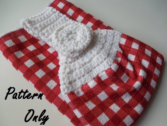 Pattern Crochet Towel Topper Pattern Crochet Pattern Towel
