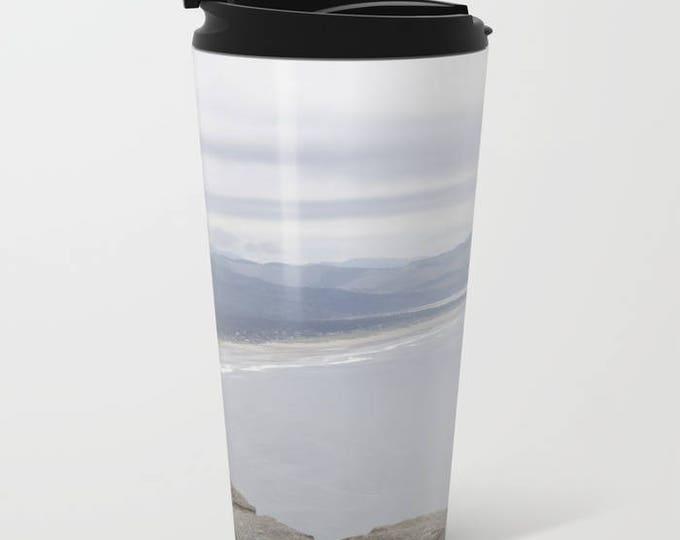 Travel Mug Metal - Beach Oregon - Beach Theme Coffee Travel Mug -  Hot or Cold - 20 oz Mug - Stainless Steel - Made to Order