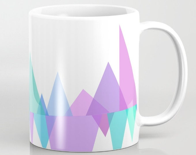Pastel Coffee Mug - Ceramic - Purple Mug - Blue Mug - 11 oz - 15oz - Made to Order