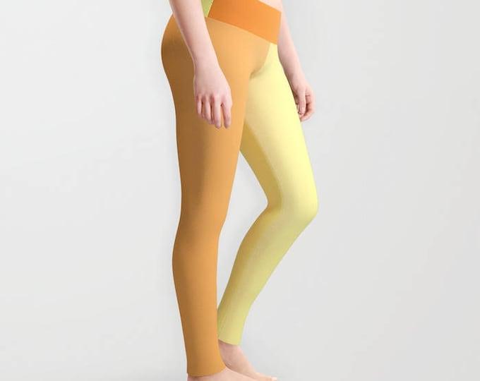 Leggings - Orange and Yellow Leggings - Yoga Pants - Yoga Leggings - Tights - Made to Order