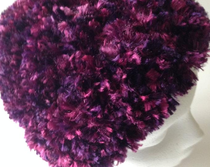 Soft Purple Hat - Crochet Hat - Fun Hat - Handmade Crochet - Ready to Ship
