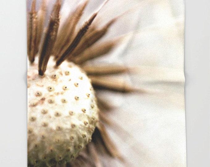 Nature Fleece Throw Blanket - Bedding - Dandelion Photo - Dandelion Wishes - Fleece Throw Blanket - Original Photo - Made to Order