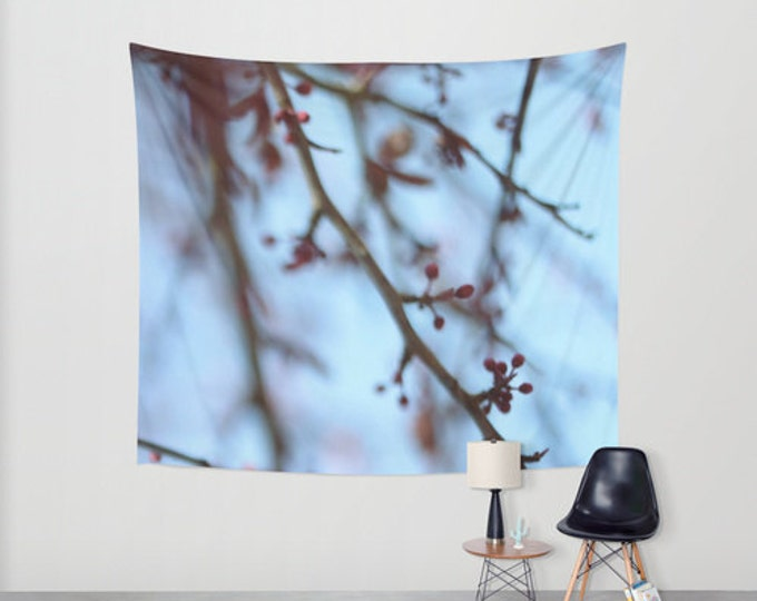 Tapestry Tree Blooms - Wall Tapestry - Nature Photo - Large Wall Hanging - 3 Sizes Available - Home Decor - Made to Order
