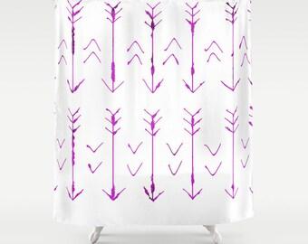 Arrow Shower Curtain - Hand Drawn Arrows Bathroom Shower Curtain - Arrow Art - Made to Order