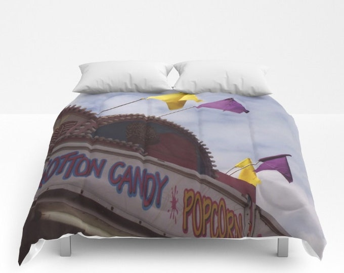 Carnival Comforter - Bed Cover - Bedding - Carnival Stand Photo - King - Queen - Full - Twin - Made to Order
