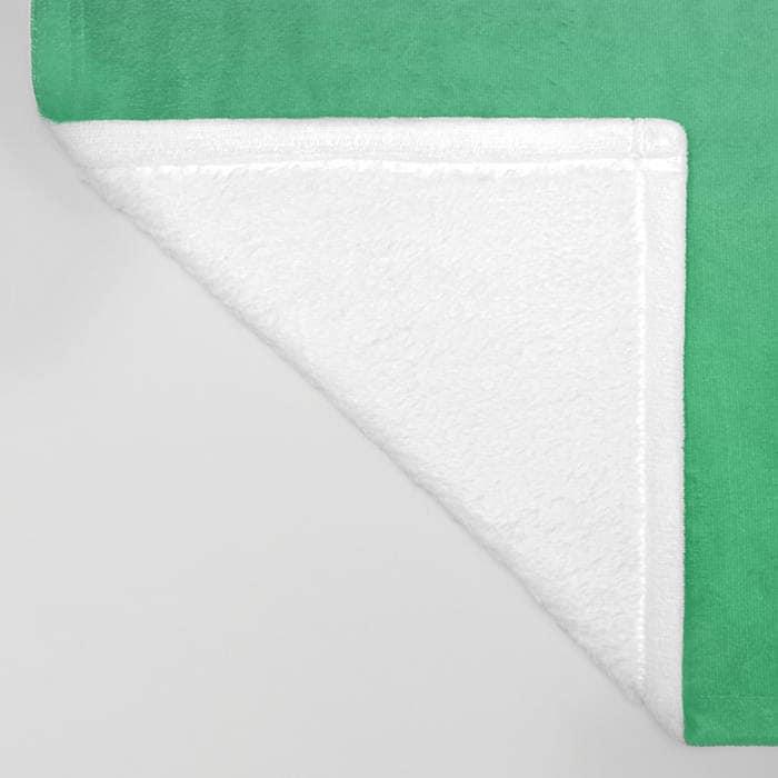 Polaire gris couverture - literie - jet pour vert dégradé - couverture en polaire toute douce - réalisé sur commande