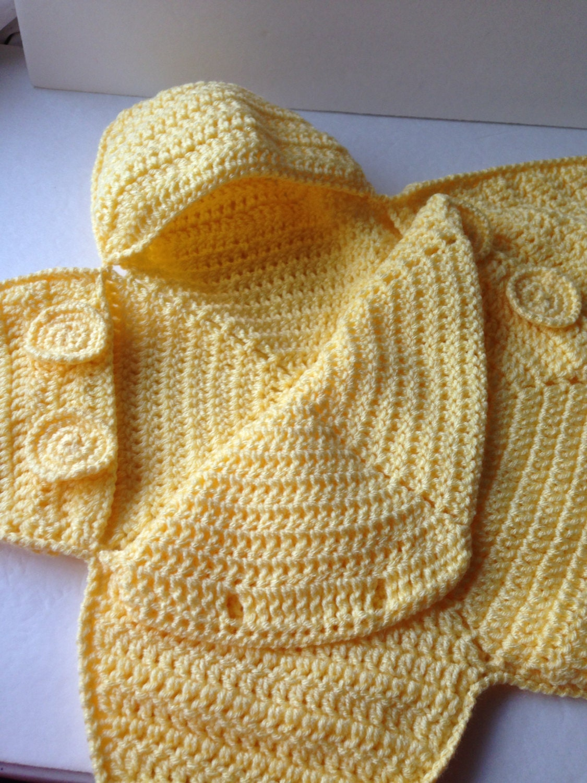 Baby Bunting Bag Yellow Star Bunting Handmade Crochet Etsy