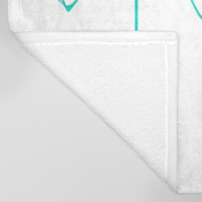 Teal Arrow en polaire toute douce jeté - literie - flèches dessinées à la main - Fleece Blanket jet - sur commande