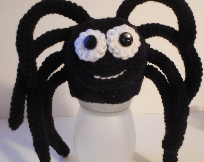 Spider Baby Animal Hat - Photo Prop - Halloween Spider Hat - Baby to Adult Sizes - Handmade - Crochet - Made to Order