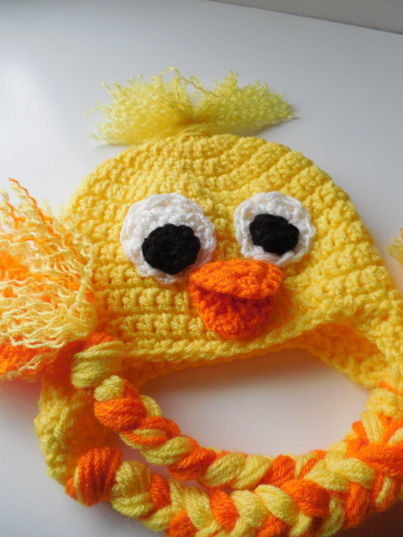 ab8877763 Duck Baby Hat - Crochet - Crochet Duck Hat - Baby Photo Prop ...