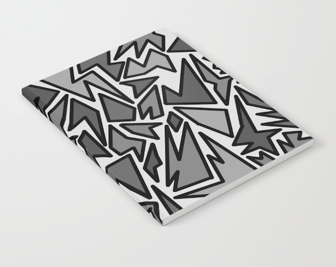 Notebook - Black and Gray Journal - Blank Book - Lined - Unlined -  Made to Order