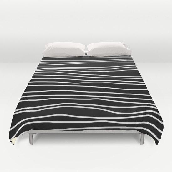 Duvet Cover Black And White Striped Duvet Cover Only