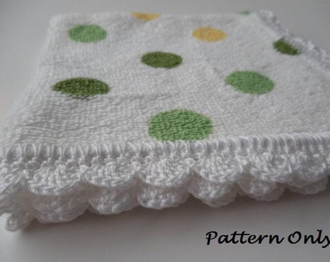 Pattern - Crochet Edged Dish Cloths - Crochet Pattern - Crochet Edged Wash Cloths - Crochet Edging Pattern - Crochet Trim - Instant Download