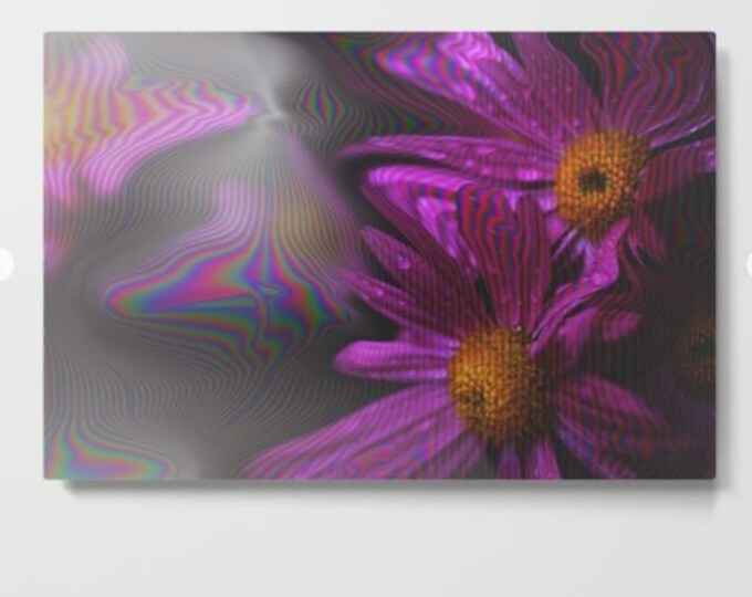 Purple Flower Metal Print - Abstract Flowers - Made to Order